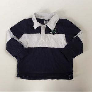 Janie and Jack Navy & White Polo 12-18 Month